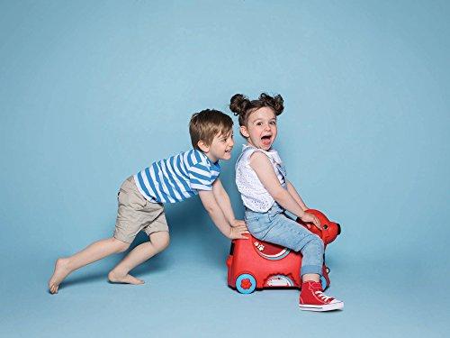 BIG 800055350 - Bobby-Trolley, Kinderkoffer, Kindergepäck, rot - 8