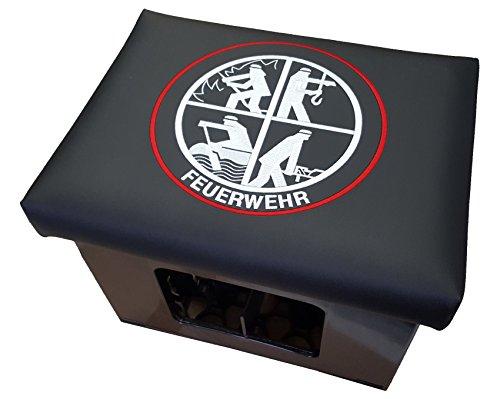 Aktion - Original Feuerwehr Bierkastensitz Bierkastenhocker Bierkiste Bierkasten Sitz Sitzkissen Hocker Polster Aufsatz Sitzauflage Bank Kissen Getränkekiste