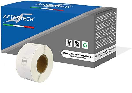 Aftertech 1 x 11353 12 x 24 mm Rolle Kompatible Etiketten (1000 Etiketten / Rolle = 1000 Stück) für Dymo LabelWriter Seiko SLP Drucker-Etikettendrucker S0722530 1 x 11353