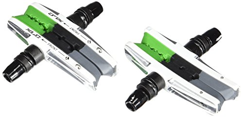 XLC Unisex– Erwachsene Bremsschuhe Cartridge V-Brake BS-V06 4er Set 72 mm, Grau, Schwarz, Grün, Silber, One Size
