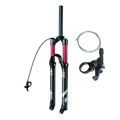 ZPPZYE MTB Horquillas de Control Remoto 26 27,5' Viaje 140mm Tubo Recto 1-1/8' Amortiguador Bicicleta 29ER Horquilla de Suspensión (Color : A, Size : 29 Inch)