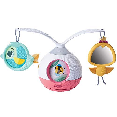 Tiny Love Tummy Time 3333130621 Mobile Giostrina Musicale per Bambini e Gioco per i Momenti a Pancia in Giù, con Suoni e Musica, Giostrina Culla e Passeggino, Collezione Tiny Pricess Tales, Rosa