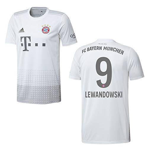 adidas Bayern Trikot Away Herren 2020 - Lewandowski 9, Größe:L