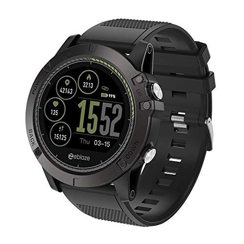 TianranRT Zeblaze VIBE 3 HR Smart Uhr Telefon Sport Männer Smartwatch FOR iOS/Android (Schwarz)