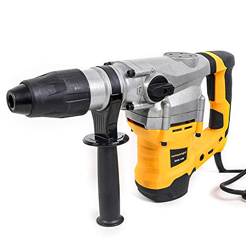 Monkey King Bar-SDS Max 120V 1500W 1300BPM 4200BPM Electric Rotary Hammer Drill for Concrete with UVP User Vibration Protection- Includes SDS Max Demolition Kit, Flat and Point Chisels with Case