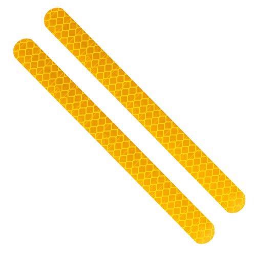 Dauerhaft 2 Stück Auto-Rückspiegel Aufkleber Sicherheit Markierungs-Auto-Reflektor-Streifen Anti-Kollisions-Warnband Car-Styling Fahrradaufkleber, Auto, Motorradzubehör, (Color : YELLOW)