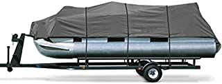 North East Harbor Heavy Duty Waterproof Gray Pontoon Cover Fits Length 25' 26' 27' 28' - Beam Width 114