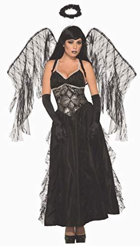 Forum Novelties AC80415 - Disfraz de ángel caído, color negro, tamaño mediano