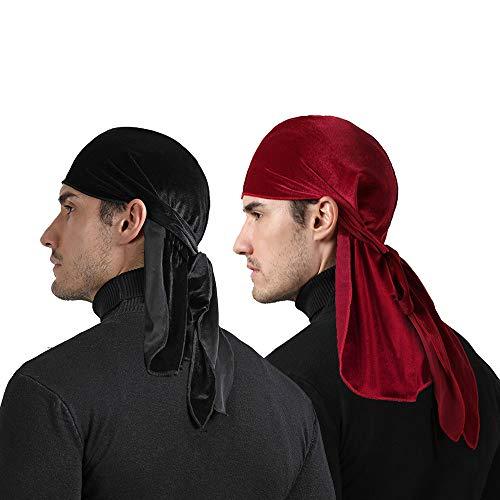 Women Satin Lined Sleep Cap, 2-Pack Adjustable...