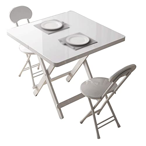 Computer Desk Simple Home Dining Table Folding Table Writing Desk for Office Folding Desk, Folding Desks for Small Spaces, Foldable Table with Frame,White