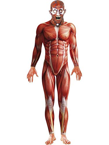 Partilandia Halloween Disfraz Cuerpo Humano para Hombre, Mono Talla M …