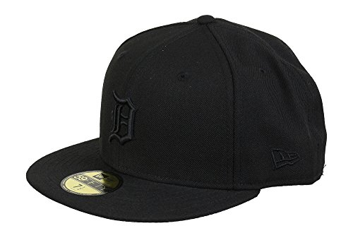 New Era Detroit Tigers 59fifty Basecap Mlb Black On Black - 7 1/8 - 57cm
