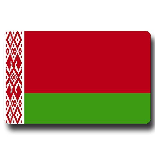 Kühlschrankmagnet Flagge Belarus - 85x55 mm - Metall Magnet mit Motiv Länderflagge Weißrussland