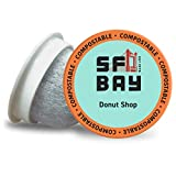 SF Bay Coffee Donut Shop 36 Ct Medium Roast Compostable Coffee Pods, K Cup Compatible including Keurig 2.0