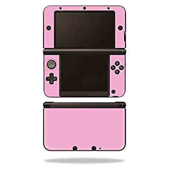 MightySkins Skin Compatible with Nintendo 3DS XL - Solid Pink | Protective Durable and Unique Vinyl Decal wrap Cover | Easy to Apply Remove and Change Styles | Made in The USA