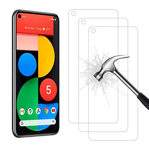 AHABIPERS Panzerglas Schutzfolie für Google Pixel 5 Panzerglas, HD Displayschutzfolie, 9H Härte Schutzfolie, Anti-Kratzer/Bläschen/Fingerabdruck/Staub Panzerglasfolie für Google Pixel 5-3 Stück