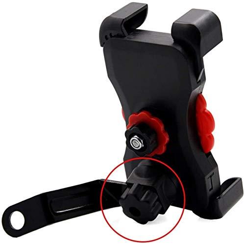 TTW Tenedor De Teléfono Móvil De La Motocicleta Universal Dual USB Motocicleta Cargador Teléfono Socket Motocross Bike Manillar Holder (Color : Bracket Holder)