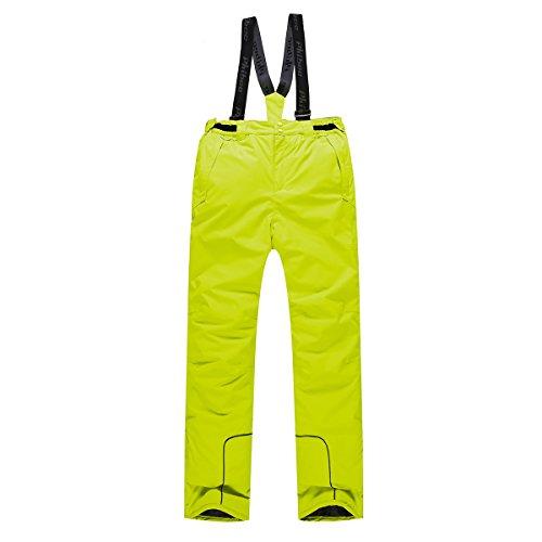PHIBEE Boys' Waterproof Breathable Polyester Snowboard Ski Pants Yellow 8