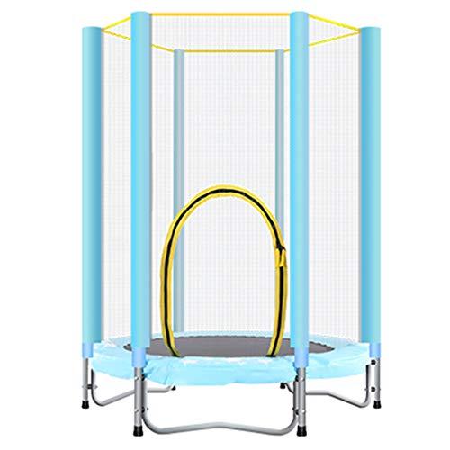 LKFSNGB 55-inch kindertrampoline met veiligheidsnet en beschermhoes - tuin outdoor kinderspeelgoed trampoline - draagkracht 50 kg
