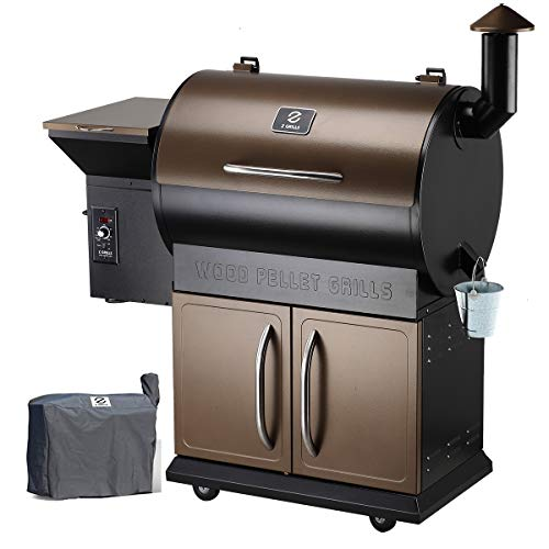 Z GRILLS Wood Pellet Grill Smoker with 2020 Newest Digital Controls,700 Cooking Area 8- in-1 Grill, Smoke, Bake, Roast, Braise,Sear,Char-Grill and BBQ for Outdoor