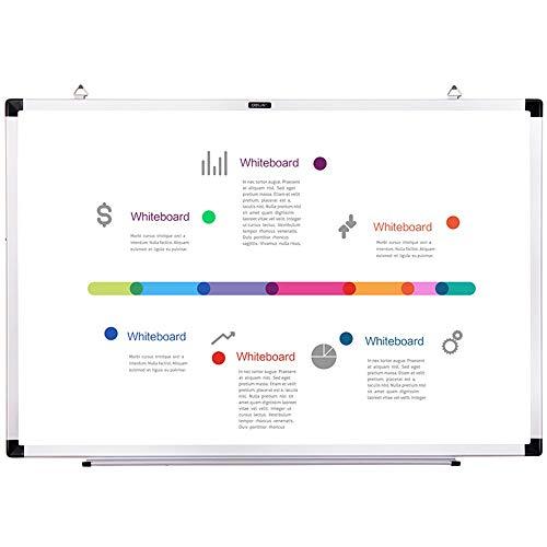 ZDAMN Whiteboard whiteboard droog wissen wit bord met pen lade ABS kunststof met marker handheld dubbelzijdig metalen frame