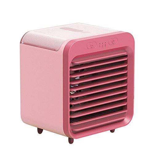 zZZ Zambista Aire Acondicionado portátil Super Fuerte Viento Mini Ventilador Enfriador de Escritorio refrigerado por Agua Recargable para habitación al Aire Libre hogar (Color : Pink)