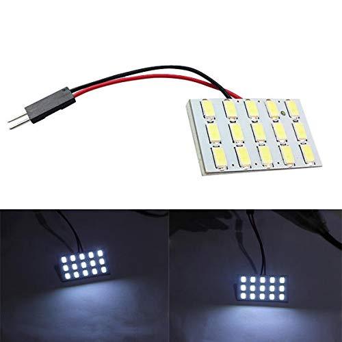 Coche LED Cúpula interior Luz de lectura Lámpara de la puerta de succión del panel de tronco Bombilla Blanco 2.4W 6000K Hudson Studio