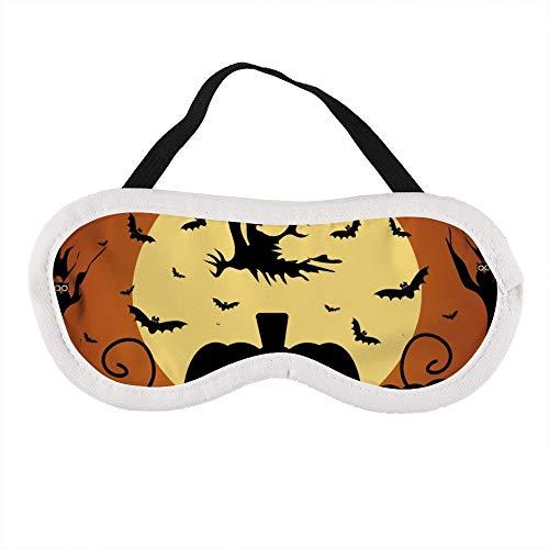 Tragbare Augenmaske für Männer und Frauen, Halloween-Hintergrund mit Kürbis, die beste Schlafmaske für Reisen, Nickerchen, gibt Ihnen die beste Schlafumgebung