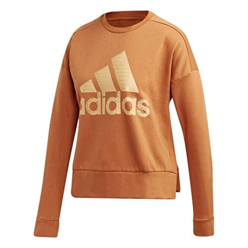 Adidas Womens Fitness Running Sweatshirt Brown 2XS