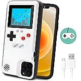 Dikkar Custodia per Telefono da Gioco per iPhone, Coque de Protection Rétro avec 36 Jeux, Affichage à Couleurs, étui de Jeu vidéo pour iPhone 11/12/Pro/MAX/12Mini/X/Xs/MAX/Xr/6s/7/8/Plus