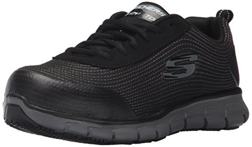 Skechers for Work Women's Synergy Wingor Work Shoe, Black, 9.5 M US