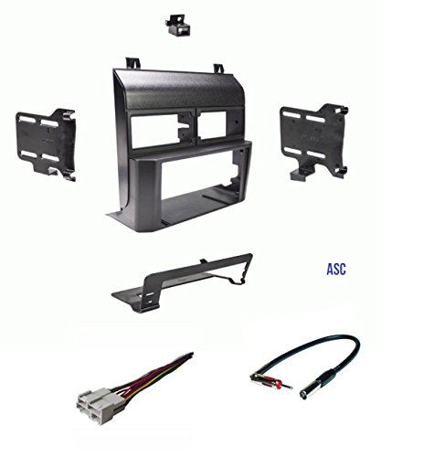 ASC Audio Car Stereo Dash Kit, Wire Harness, and Antenna Adapter for installing a Double Din Radio for some 1998-1994 Chevrolet GMC Pickup Truck SUV Suburban Blazer