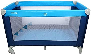 LuvLap Sunshine Baby Playpen Playard/Folding Baby Bed Cum Cot/Convertible Crib (Blue)