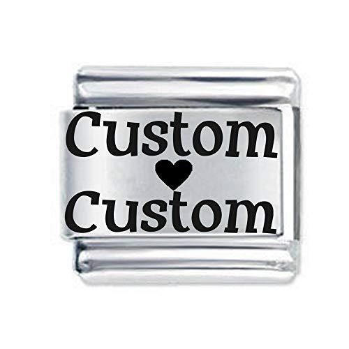 Personalised Custom Made Lovers Names Italian Charm - fits all 9mm Italian Style Charm Bracelets