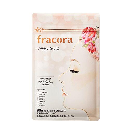 fracora(フラコラ) プラセンタ サプリ プラセンタつぶ 90粒
