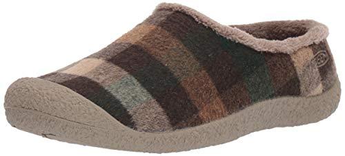 KEEN womens Howser Slide Loafer, Brown Plaid/Brindle, 6.5 US
