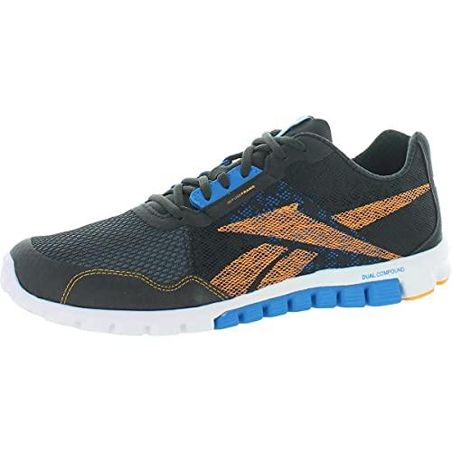 Reebok Realflex Run 2.0 Running Men's Shoes, Charcoal/Orange/Blue, 11