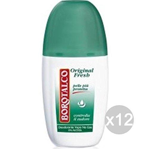 Borotalco - Juego de 12 desodorante en spray original, 75 ml, cuidado e higiene del cuerpo