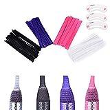 Coobbar 100pcs 4 Color makeup brushes net Protector Guard Elastic Mesh Beauty Make Up Cosmetic Brush pen Cover Cap