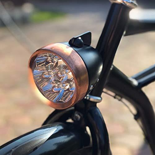 yuanchuang Fahrradbeleuchtung Retro Bike Riding Zubehör LED Lights/Led Bike Scheinwerfer/Fahrrad Licht Kupfer/Front Scheinwerfer