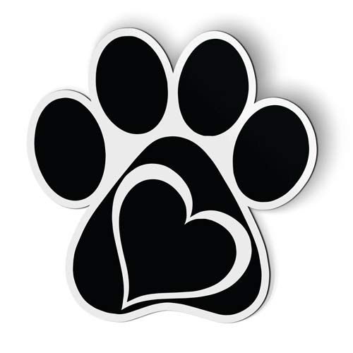 AK Wall Art Paw Heart Cat Dog Parent - Magnet - Car Fridge Locker - Select Size
