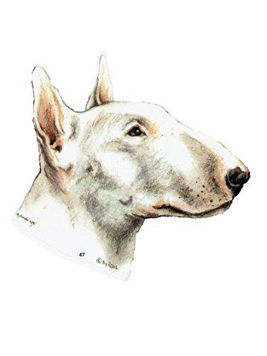 pet-lovers-gifts Aufkleber/Sticker/Autoaufkleber - Hunde Bullterrier [r047]