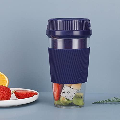 Licuadora portatil, mini licuadoras personales de, taza exprimidora de mano para batidos y batidos, batidora recargable USB perfecta para frutas, alimentos para bebes 300ml-B