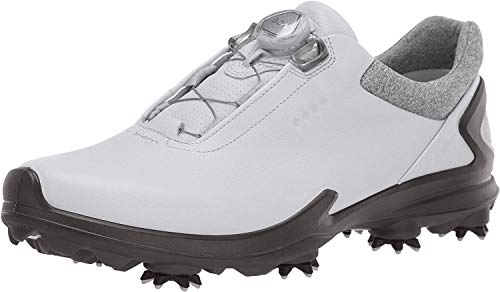 ECCO Men's Biom G3 BOA Gore-TEX Golf Shoe, Shadow White Yak Leather, 42 M EU (8-8.5 US)