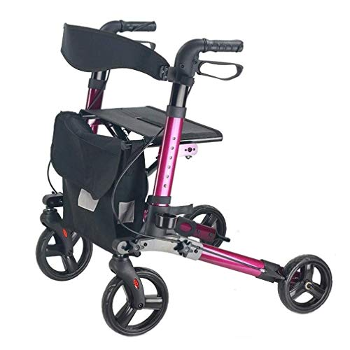 FF 4 wielen vouwbare rolstoel oude winkelwagen trolley wandelhulp aluminium legering scooter