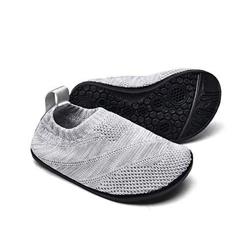 Sosenfer Zapatillas de Estar por casa Kids Slipper Calcetines Zapatos Antideslizantes de Punto para niños y niñas Pantuflas Infantiles Unisex-HUIQIAN-25