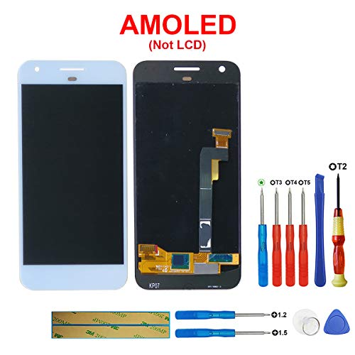 SWARK AMOLED scherm Compatibel met Google Pixel Nexus S1 5.0 inch LCD Display Touch Screen (wit) + tools