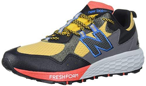 New Balance Men's MTCRGLR2 Trail Running Shoe, Varsity Gold/Black/Toro Red, 9 D US