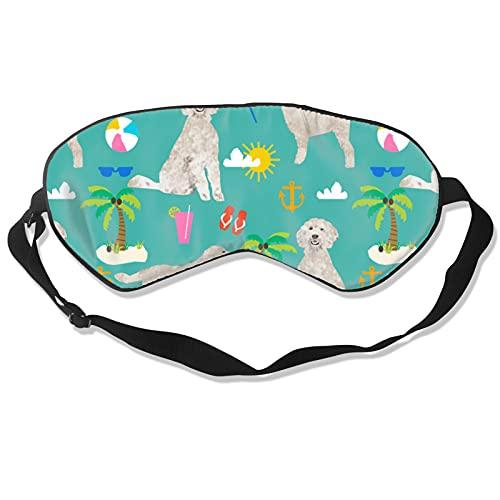 Máscara de dormir para perros para hombres y mujeres, máscara de dormir y vendados para bloquear la luz suave y cómoda sombra de ojos para meditación de yoga
