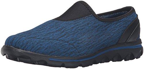 Propét Women's TravelActiv Slip-On Sneaker Oxford, Black/Navy Heather, 9.5 Narrow